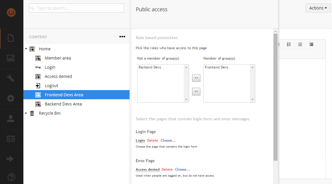 Custom Roles in Public Access management
